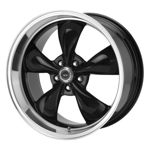(American Racing Torq Thrust M Gloss Black Wheel with Machined Lip (17x9