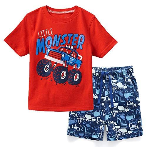 Frogwill Toddler Boys The Little Monster Truck Shorts Set 3T