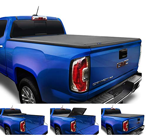 Tyger Auto (Soft Top T3 Tri-Fold Truck Tonneau Cover TG-BC3C1039 Works with 2015-2019 Chevy Colorado/GMC Canyon | Fleetside 5' Bed