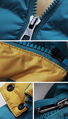 Hombres anorak chaqueta invierno abajo Azul con SODIAL 2014 L sudadera abrigo Caliente capucha R Abrigo w4nAqxEzP
