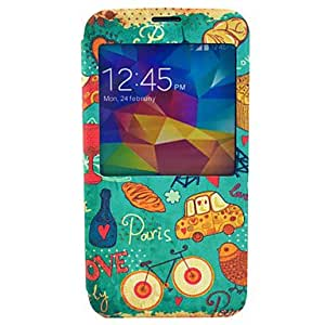 QYF Under The Tower Heart Cover Case Compatible with Samsung Galaxy S5 I9600