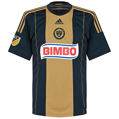 adidas MLS Philadelphia Union Men's Replica Short Sleeve Jersey, Small, Navy by adidas