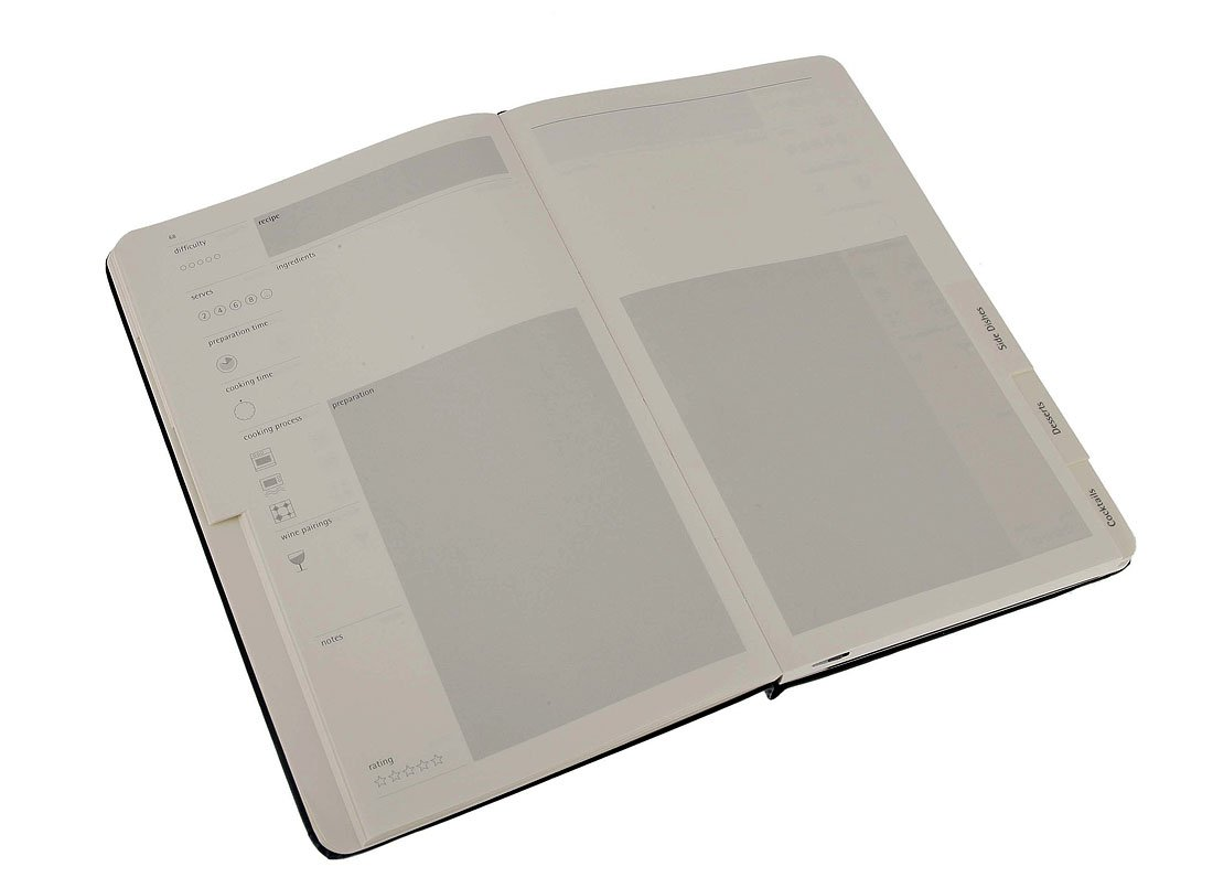 Moleskine Passion-Journal Rezepte Large, Hardcover mit Prägung ...