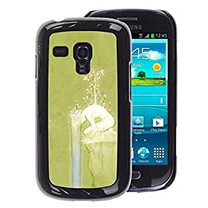 A-type Arte & diseño plástico duro Fundas Cover Cubre Hard Case Cover para Samsung Galaxy S3 MINI 8190 (NOT S3) (Spring Girl Nature Deep Meaning)