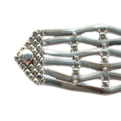 Sergio Gutierrez Liquid Metal Grand motif de serpent complexe Mesh Bracelet