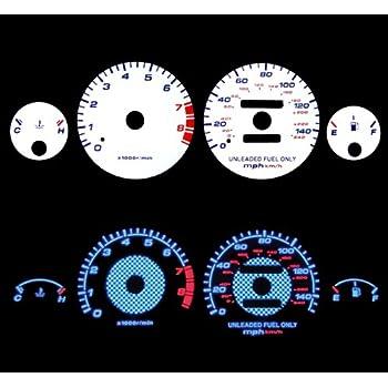 94-01 Acura Integra RS LS GS MT Reverse BLUE El Glow White Gauge