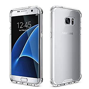 Samsung Galaxy S7 Edge Clear Case, Pajuva PC+TPU Protective Transparent Case Thin for Galaxy S7 Edge Crystal Clear Case With Bumper (Clear)