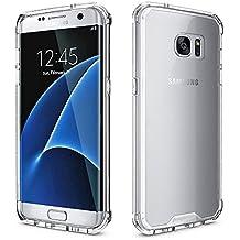 Samsung Galaxy S7 Edge Clear Case, Pajuva PC+TPU Protective Transparent Case Thin Galaxy S7 Edge Crystal Clear Case Bumper (Black)