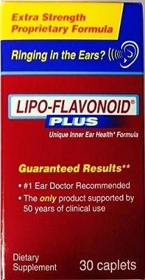 Lipoflavonoid Plus Unique Ear Health 30 Caplets Ringing of the Ear