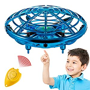 Hand Operated Mini Toy Drone for Kids, Upgraded UFO Flying Ball Toy with LEDs, USB Rechargeable Indoor Drone, Most…