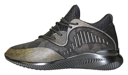 Javi Mens Bucks Dettaglio In Gomma Mesh Moda Sneaker Bronzo