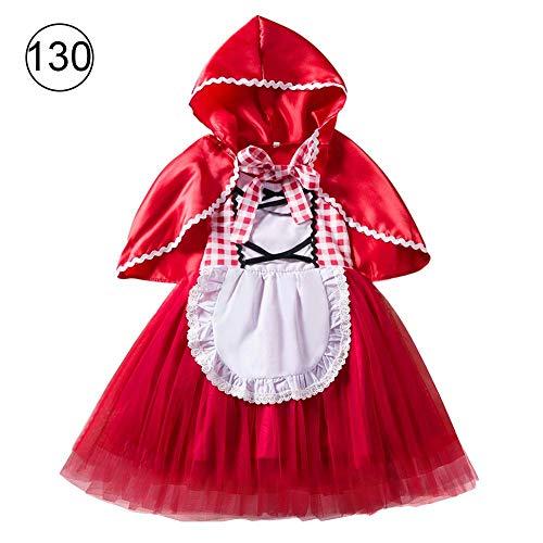 tebisi 2018 European and American Style Girls Dress Halloween Costume Vampire Girl Princess Dress Little Red Riding Hood Costume Princess Dress Christmas -