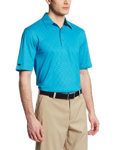 Greg Norman Collection Men's Golden Gate Embossed Polo Shirt, Bondi, Medium
