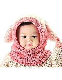 6563603dce5 2 Pack Baby Boy Girl Winter Warm Fleece Lined Hat Infant Toddler Kid Crochet  Hairball Beanie
