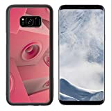Liili Premium Samsung Galaxy S8 Plus Aluminum Backplate Bumper Snap Case IMAGE ID: 10940808 soft pink 3d render of grouped sound system deejay dj set