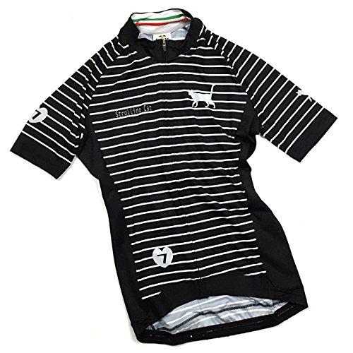 セブンイタリア Strolling Cat Stripe レディース Jersey ブラック/グレー XS(78S-SCL-JY-BGXS)   B07BKPDWWS