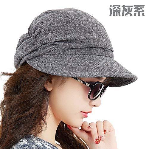 Señoras Sombrero Negro El Sol Verano Casquillo Gorras Para Basic xCBfzqnnI
