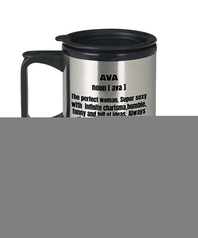 Taza de café de viaje divertida con texto en inglés