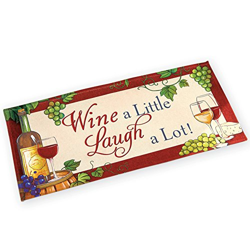 Wine a Little Laugh a Lot Novelty Vineyard Accent Rug