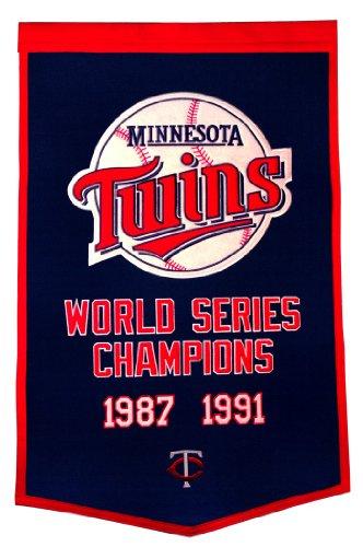 Minnesota Twins Official MLB 24 inch x 36 inch Dynasty Banner Flag by Winning Streak by Winning Streak