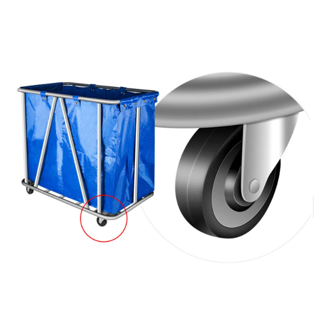 Kitchen Serving Trolley Hotel Service Car Folding Linen Car Hotel Trolley Thick Stainless Steel Cleaning Car Trolley with Wine Rack