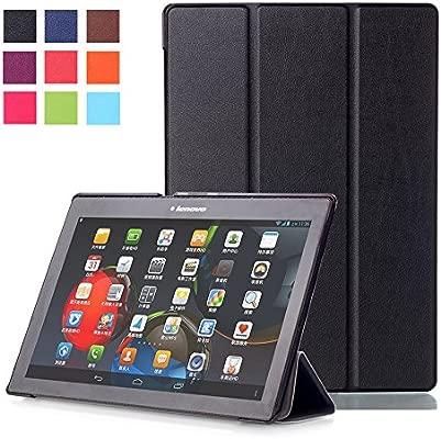 WindTeco Lenovo Tab 10 TB-X103F/Tab3 10 Plus Funda Case, Carcasa Protectora con Auto Sueño/Estela Función para Lenovo Tab 2 A10-70F/Tab 2 A10-30 / Tab ...