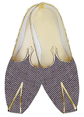 INMONARCH Herren Blau Jute Hochzeit Schuhe Designer MJ013914
