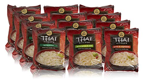 Thai Kitchen Instant Rice Noodle Soup Variety Pack, Gluten Free Ramen, Ready in...