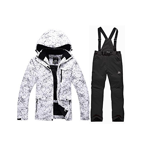 RIUIYELE Fashion Women's High Waterproof Windproof Snowboard Colorful Printed Ski Jacket and Pants