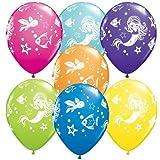Merry Meerjungfrau & Freunde Qualatex 11 Zoll Latexballons (10er Packung, Gemischte Farben)