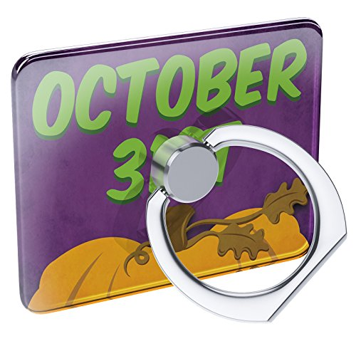 (Cell Phone Ring Holder October 31st Halloween Pumpkin Top Collapsible Grip & Stand)