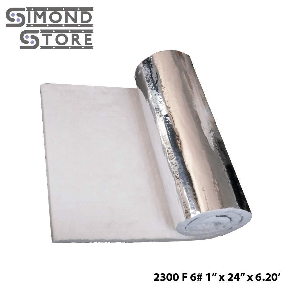 Aluminium Foil Faced Ceramic Fiber Blanket 6# Density 2300F 1 x 24 x 6.20' for Insulation of Chimney & Exhaust Duct Simond Fibertech Limited