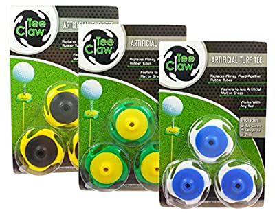 Tee Claw Golf Training Kit, Artificial Turf Tee Holder and Training Alignment Aid