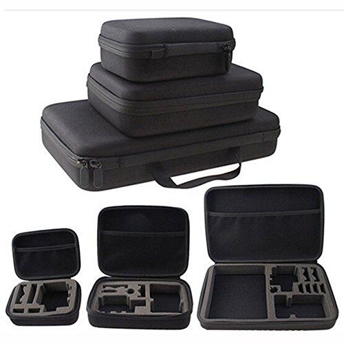 Camera Bag, OWIKAR S/M/L Size Black Waterproof Shockproof Camera Storage Box Case Handbag Travel EVA Collection Carry Box For Gopro Hero 4/3+/3/2/1, sjacm, XiaoYi Action Cameras(Large)