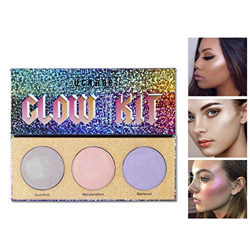 Highlighter Makeup Palette Crystal Sugar Highlighting Bronzer Glow Shimmer Eyeshadow Cosmetic Kits Makeup Shimmer Matte Cosmetics Cosmetics Long Lasting Waterproof