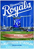 MLB Kansas City Royals Two Sided Stadium View Vertical Banner, 28 x 40-Inch