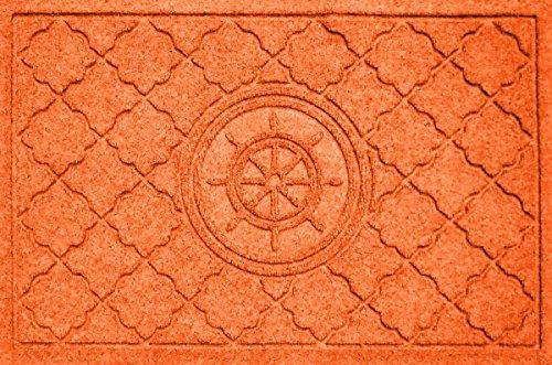 Aqua Shield Bombay Ship's Wheel Mat, 2 by 3-Inch, Orange