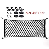 "40"" X 16"" Universal Trunk Cargo Net,Flexible Mesh Trunk Storage Net"
