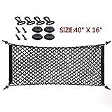 Yosoo Universal Flexible Car Rear Cargo Nets,Truck Bed Elastic String Envelope Net Mesh