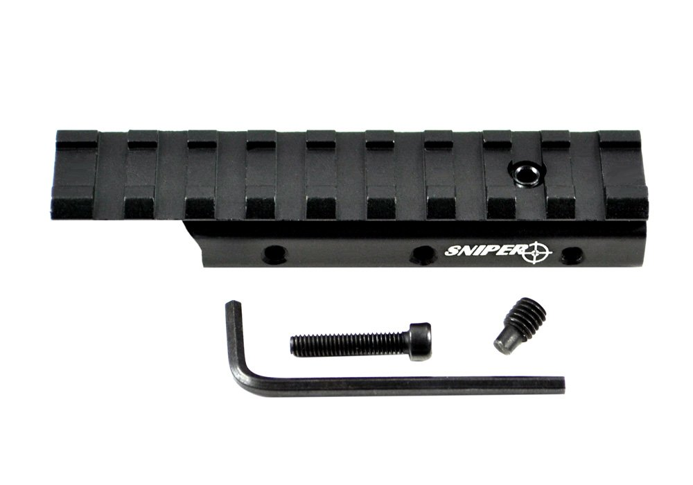 SNIPER® Dovetail to Weaver Adapter, Rail Base Mount adjuster, 9 Slots