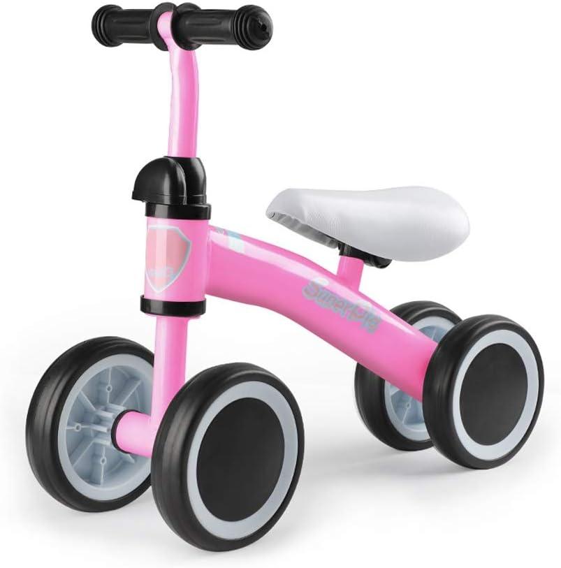 BLWX LY Bicicletas sin Pedals for niños pequeños ,4 Ruedas, Edades de 1 a 4 años-Peso Ligero 4 lbs ( Color : Pink )