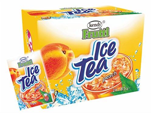 Frutti Instant Getränkepulver ohne Zucker - Geschmackrichtung: Ice Tea Peach Eistee Pfirsich 12er Packung
