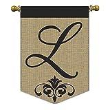 "Cheap Magnolia ""Monogram L Burlap Garden Flag, 13″ x 18"""