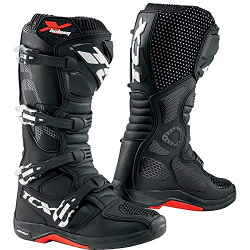 (TCX X-Helium Michelin Men's Off-Road Motorcycle Boots - Black/Eu 45 / Us 11)