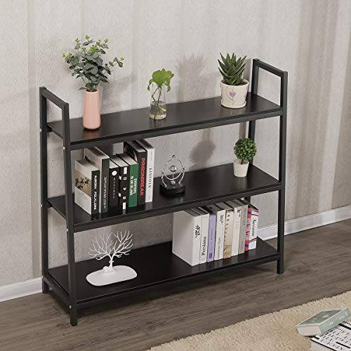 3 Tiers 48in Long Ladder Shelf For Living Room Kitchen Bedroom, Plant Stand Storage Shelves Rack For Store ,Book Shelf Kitchen Food Flowers Storage Heavy Duty Shelves(48in X 41in X 13.7in -- 3Tiers)