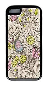 LJF phone case Butterflies And Bees Cases For iPhone 5C - Summer Unique Wholesale 5c Cases