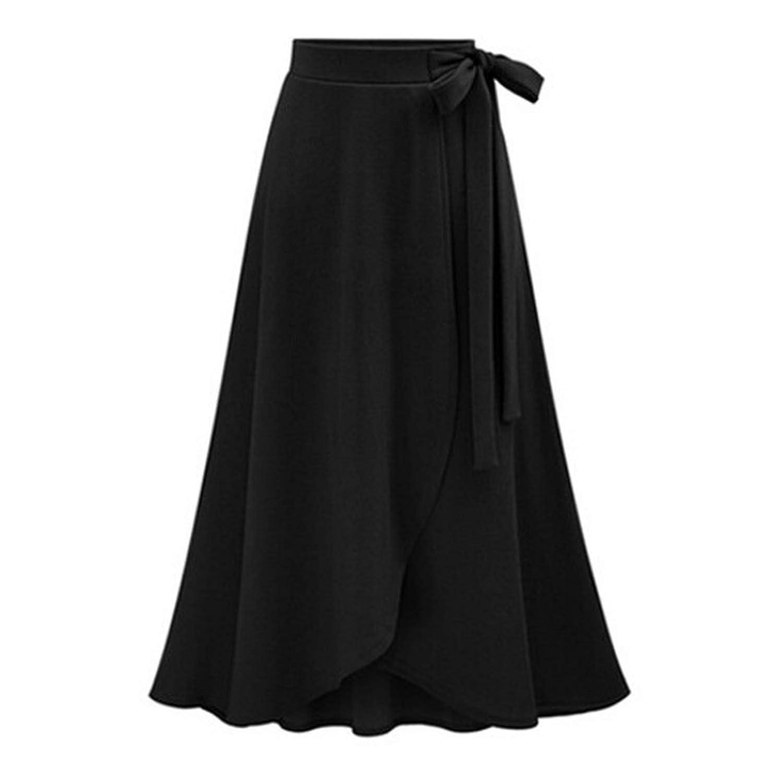 Sunshinejourney-dress 2018 Long Skirt High Waist Irregular Maxi Female Casual Fashion Spring Autumn Skirts Faldas