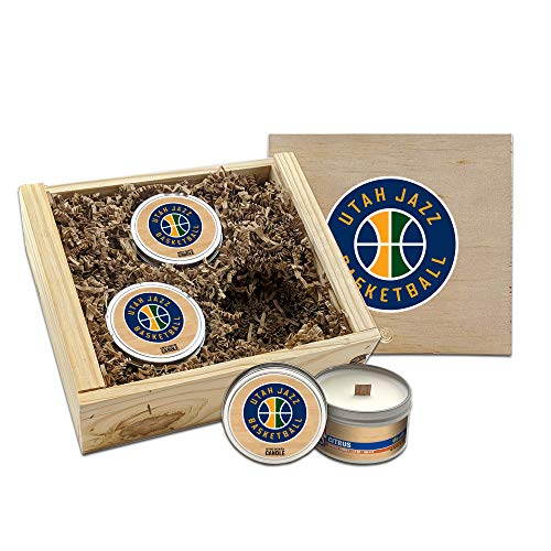 Worthy Promo NBA Scented Candles Gift Set in Wood Box (Utah Jazz)