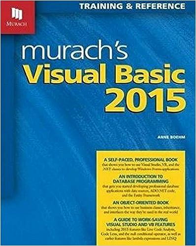 Murach's Visual Basic 2015: Anne Boehm, Mike Murach