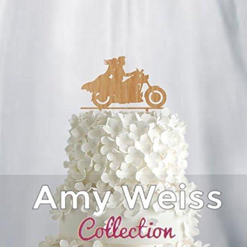 Wedding Cake Topper AW1076W Frog Studio Home Couple on Moto